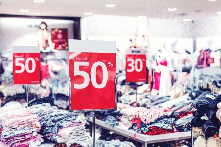 Sale in a fashion store