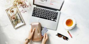 Online Shopping Wallet Creditcard Tea
