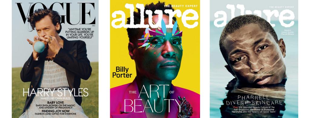 Men on fashion magazines covers 2020